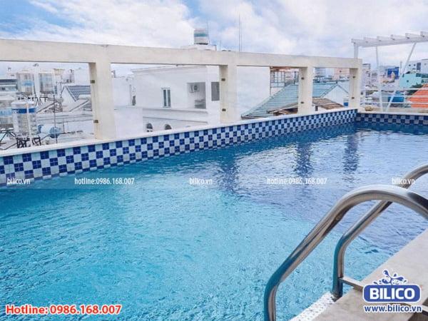 công trình bể bơi sân thượng số 3