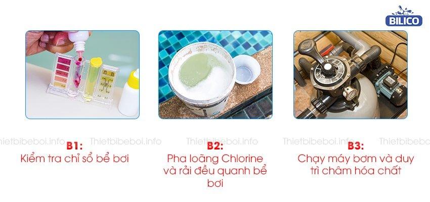 Hướng dẫn sử dụng hóa chất chlorine aqua org 45kg