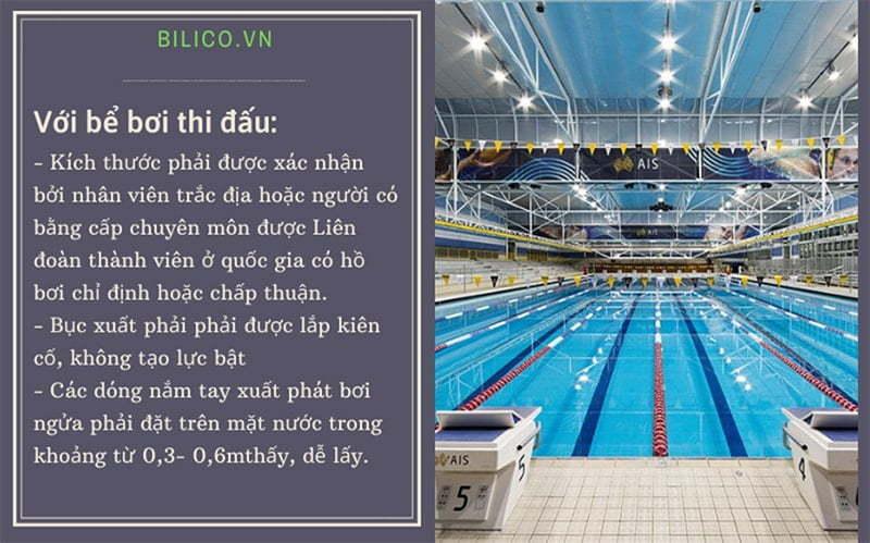 tiêu chuẩn thiết kế bể bơi thi đấu
