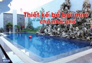 thiết kế hồ bơi mini trong nhà phố