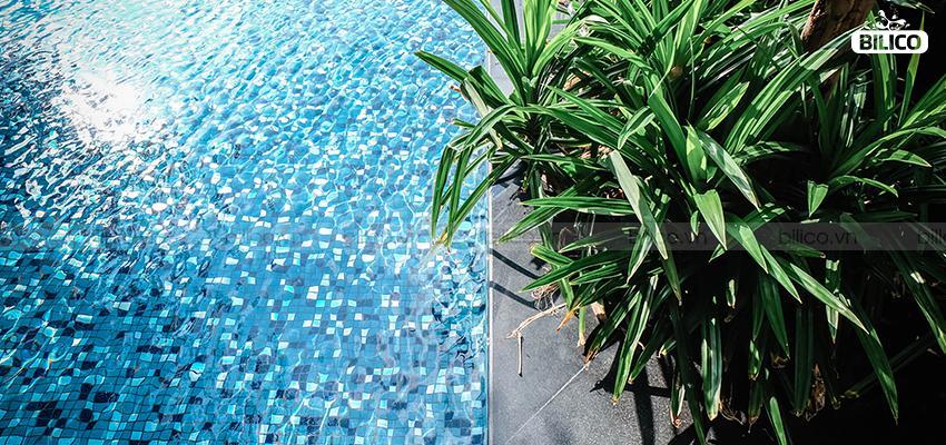 ứng dụng gạch mosaic gốm GP-48465