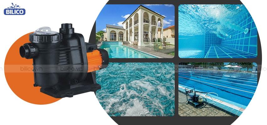 Ứng dụng máy bơm bể bơi TFB