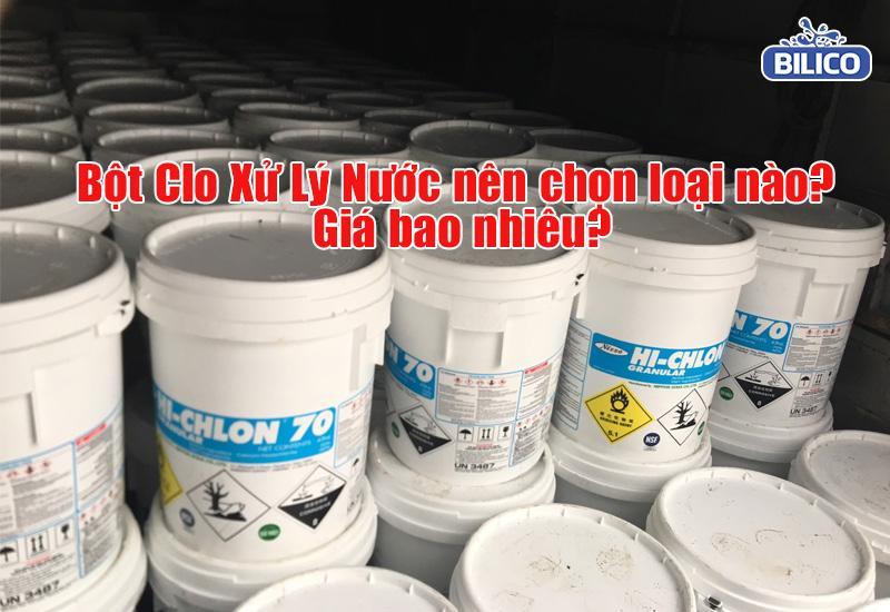 bột clo xử lý nước