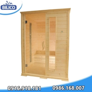 phòng xông hơi khô đóng sẵn gỗ thông phần làn 6kw