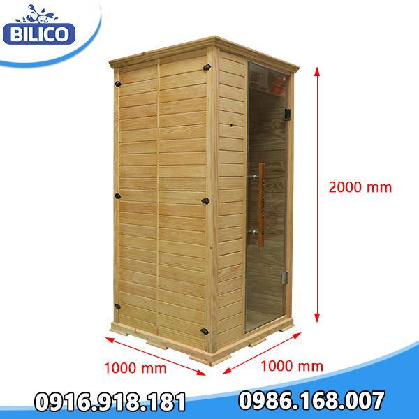 Phòng xông hơi khô đóng sẵn gỗ thông Mỹ 3.6kW