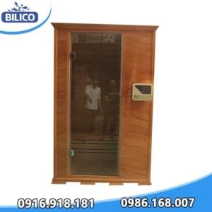 phòng xông hơi khô đóng sẵn gỗ thông Mỹ 4.5kW