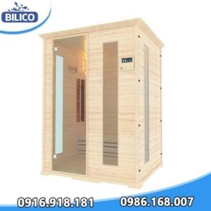 phòng xông hơi khô đóng sẵn gỗ thông mỹ 6kw