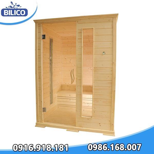 phòng xông hơi khô đóng sẵn gỗ thông phần lan 4.5kw