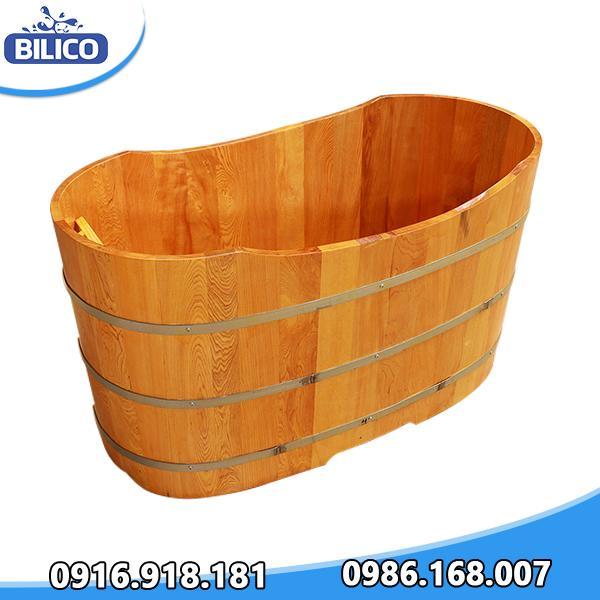 bồn ngâm gỗ hình Oval