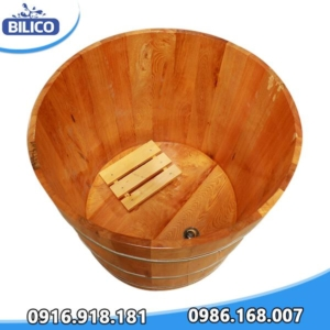 bồn tắm gỗ hình tròn