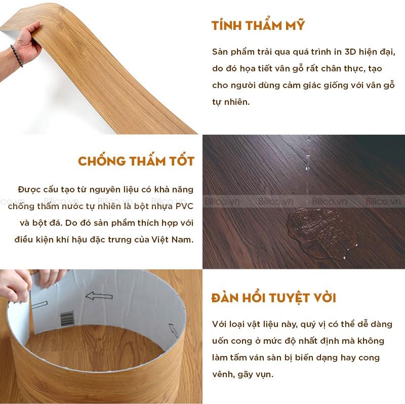 đặc điểm sản nhựa giả gỗ tự dán BD1023V