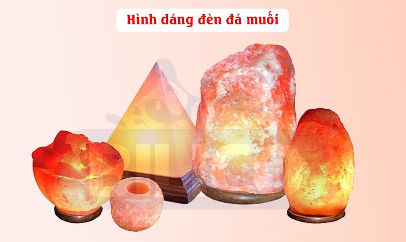 hình dáng đèn đá muối himalaya