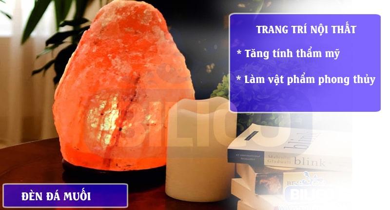 đèn đá muối dùng để trang trí nội thất