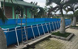 kích thước bể bơi bạt kích thước 8.1 x 20.1 (m)