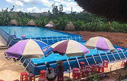 bể bơi bạt kích thước 9.6 x 20.1 (m)