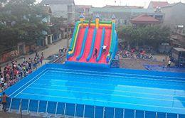 bể bơi bạt kích thước 15.6 x 24.6 (m)