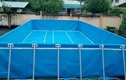 bể bơi bạt kích thước 6.6 x 8.1 (m)