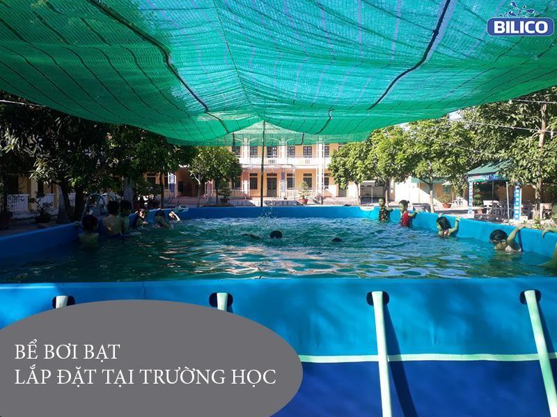 bể bơi trường học bằng bạt