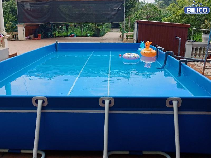 Công trình bể bơi bạt anh Hải - Hưng Yên