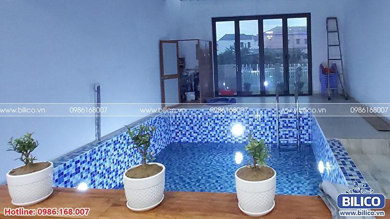 Bàn giao công trình bể bơi gia đình anh Nam, Quảng Trị